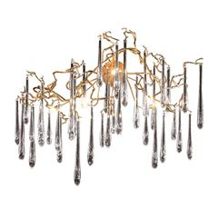 ELK lighting Veubronce 6 Light Wall Sconce In Tahla Bronze And Clear Crystal