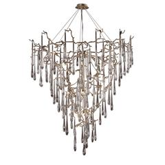 Veubronce 19 Light Chandelier In Tahla Bronze And Clear Crystal