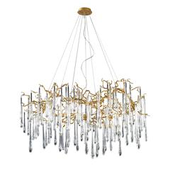 Veubronce 15 Light Chandelier In Gold Leaf