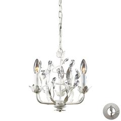 ELK lighting Circeo 3 Light Chandelier In Antique White - Includes Recessed Lighting Kit
