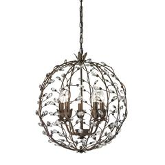 ELK lighting Sagemore 5 Light Pendant In Bronze Rust