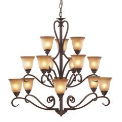 Cornerstone Lawrenceville 12 Light Chandelier In Mocha