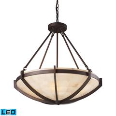 ELK lighting Spanish Mosaic 6 Light LED Pendant In Aged Bronze
