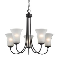 Cornerstone Charleston 5 Light Chandeier In Oil Rubbed Bronze
