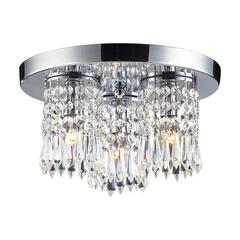 Optix 3 Light Semi Flush In Polished Chrome