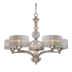 Alexis 5 Light Chandelier In Antique Silver