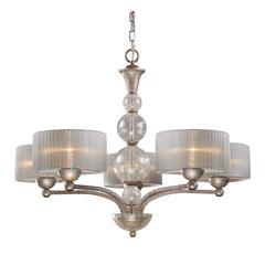 ELK lighting Alexis 5 Light Chandelier In Antique Silver