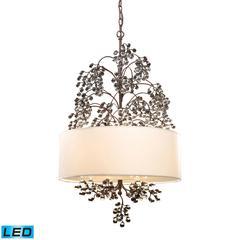 ELK lighting Winterberry 4 Light LED Chandelier In Antique Darkwood