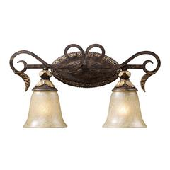 ELK lighting Regency 2 Light Vanity In Burnt Bronze And Gold Leaf