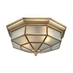 ELK lighting Linoka 2 Light Flushmount In Brushed Brass
