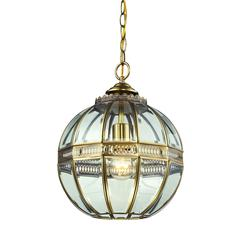 ELK lighting Randolph 1 Light Pendant In Brushed Brass And Clear Glass