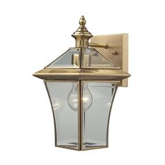 Riverdale 1 Light Outdoor Sconce In Brushed Brass