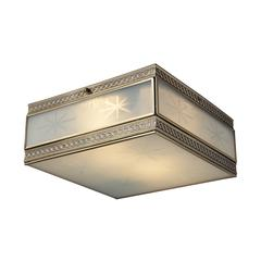 ELK lighting Conley 2 Light Flushmount In Brushed Brass
