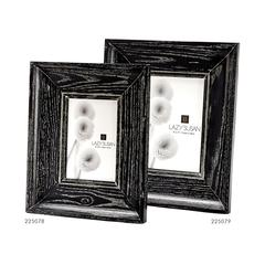 Lazy Susan Cerused Black Convex Frame - 4 X 6