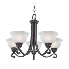 Cornerstone Hamilton 5 Light Chandeier In Oil Rubbed Bronze
