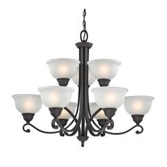 Cornerstone Hamilton 9 Light Chandelier In Oil Rubbed Bronze