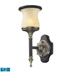 ELK lighting Georgian Court 1 Light LED Wall Sonce In Antique Bronze And Dark Umber