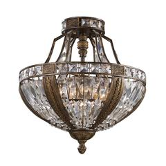 ELK lighting Millwood 6 Light Semi Flush In Antique Bronze