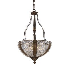 Millwood 6 Light Pendant In Antique Bronze