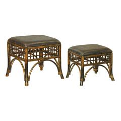 Sterling Set of 2 Stitch Point Ottoman