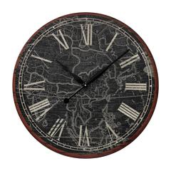 Sterling Map Of The Work Printed Clock