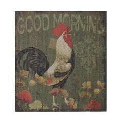 Good Morning Cockerel-Good Morning Cockerel Hand Paint On Wood