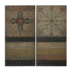 Sterling Brichell-Handpainted Spanish Tiles On Wooden Panels