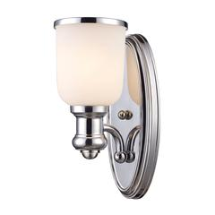 Cornerstone Brooksdale 1 Light Sconce In Polished Chrome