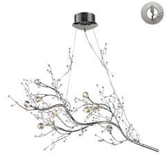Viviana Collection 10-Light Chandelier In Chrome With Adapter Kit