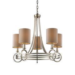 ELK lighting New York 5 Light Chandelier In Renaissance Silver Leaf
