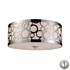 Retrovia 3 Light Flushmount In Polished Nickel - Includes Recessed Lighting Kit