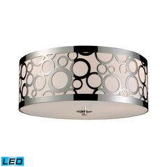 Retrovia 3 Light LED Flushmount In Polished Nickel