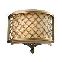 Chester 1 Light Wall Sconce In Brushed Antique Brass
