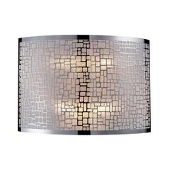 ELK lighting Medina 2 Light Wall Sconce In Polished Stainless Steel