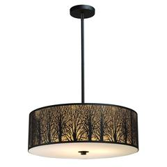 ELK lighting Woodland Sunrise 5 Light Pendant In Aged Bronze