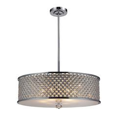 Genevieve 6 Light Pendant In Polished Chrome