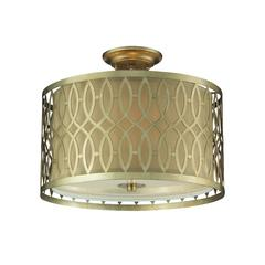 ELK lighting Estonia 3 Light Semi Flush In Aged Silver