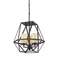 ELK lighting Delaney 3 Light Pendant In Oil Rubbed Bronze