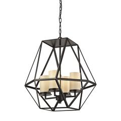 Delaney 4 Light Pendant In Oil Rubbed Bronze