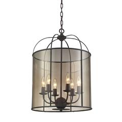 ELK lighting Fenton 6 Light Chandelier In Oil Rubbed Bronze