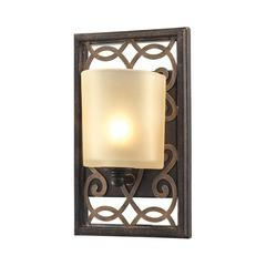 ELK lighting Santa Monica 1 Light Vanity In Weatbered Bronze With Gold Highlights