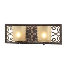 ELK lighting Santa Monica 2 Light Vanity In Weatbered Bronze With Gold Highlights