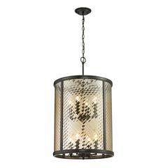 Chandler Collection 8 light pendant in Oil Rubbed Bronze