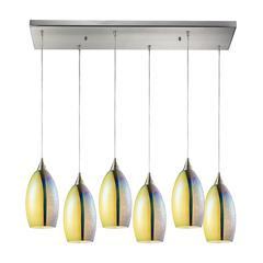 ELK lighting Horizon 6 Light Pendant In Satin Nickel