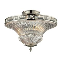 Aubree 2 Light Semi Flush In Polished Nickel