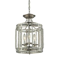 Aubree 3 Light Pendant In Polished Nickel