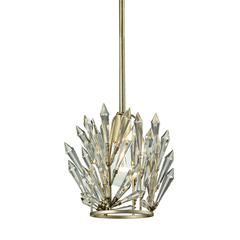 Viva Natura 1 Light Pendant In Aged Silver
