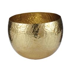 Lazy Susan Gold Hammered Brass Dish - Sm