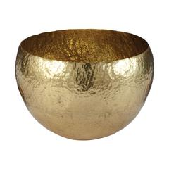 Lazy Susan Gold Hammered Brass Dish - Lg