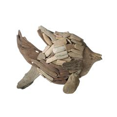 Lazy Susan Natural Driftwood Angel Fish